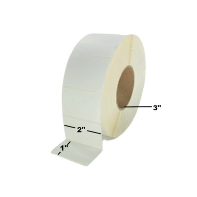"""2"""" x 1"""", Thermal Transfer, Non-Perforated, Roll, 3"""" Core, Coated, $8.29 per Roll in 8 Roll Case"""