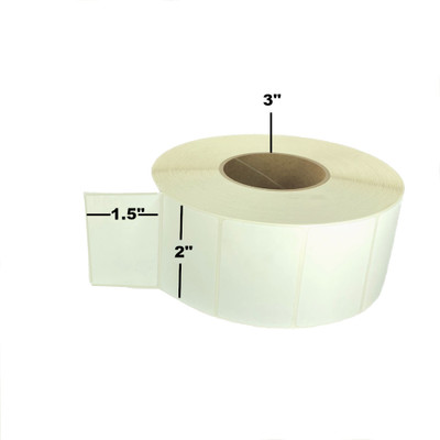 """2"""" x 1.5"""", Thermal Transfer, Perforated, Roll, 3"""" Core, Un-Coated, $11.50 per Roll in 8 Roll Case"""