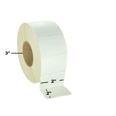 "2"" x 2"", Thermal Transfer, Perforated, Roll, 3"" Core, Coated, $7.55 per Roll in 8 Roll Case"