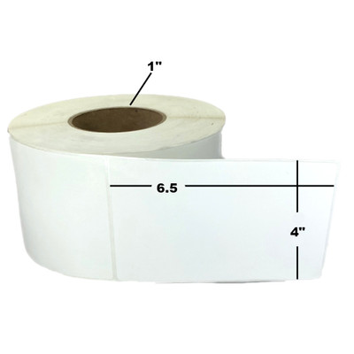 """4"""" x 6.5"""", Direct Thermal, Perforated, Roll, 1"""" Core, Uncoated, 4"""" Outside Diameter, $7.43 per Roll in 16 Roll Case"""