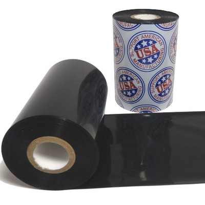 "Wax Resin Ribbon: 1.57"" x 1,476' (40.0mm x 450m), Ink on Outside, Premium, $6.42 per Roll in 24 Roll Case"