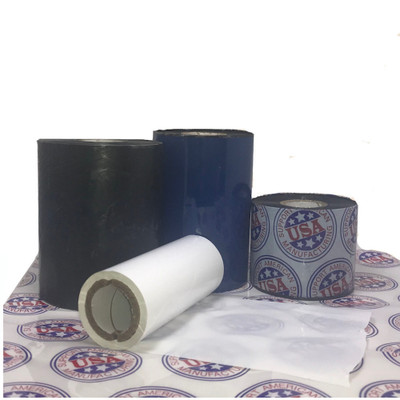 """Resin Ribbon: 1.49"""" x 1,476' (38.0mm x 450m), Ink on Outside, White, $26.33 per Roll in 6 Roll Case"""