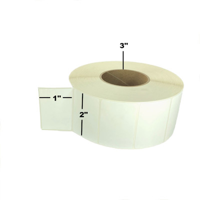 """2"""" x 1"""", Thermal Transfer, Perforated, Roll, 3"""" Core, Coated, General Use, $7.78 per Roll in 8 Roll Case"""