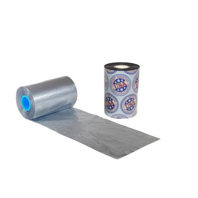 "Wax Resin Ribbon: 1.18"" x 3,280' (30.0mm x 1000m), Ink on Outside, Silver, Near Edge, $19.27 per Roll in 12 Roll Case"