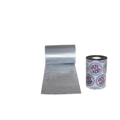 """Wax Resin Ribbon: 2.16"""" x 1,968' (55.0mm x 600m), Ink on Inside, Silver, Near Edge, $20.61 per Roll in 24 Roll Case"""