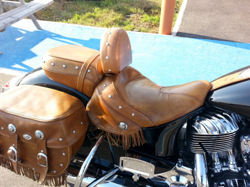 INDIAN ROADMASTER or INDIAN WITH ONE PIECE SEAT BROWN