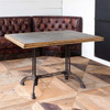 Zinc Top Cafe Table