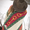 Green, Red, and White Snaffle Throw
