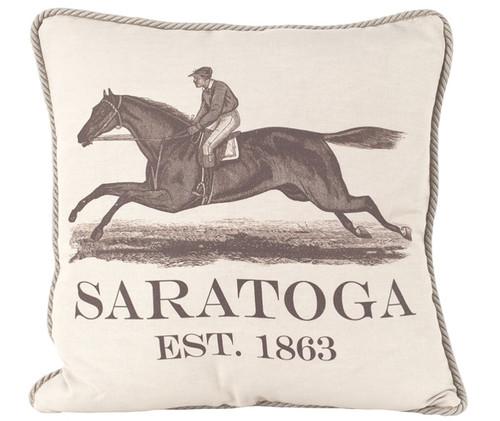 Saratoga Est. 1863 Pillow
