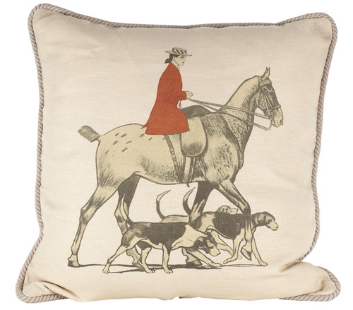 Horse and Hounds Pillow