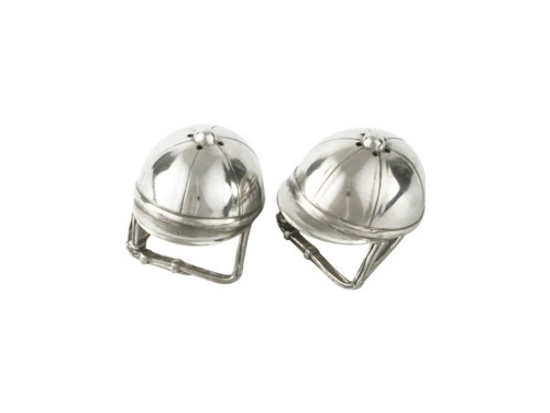 Pewter Riding Hats Salt & Pepper Set