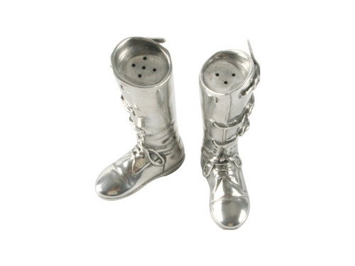 Pewter Riding Boots Salt and Pepper Set
