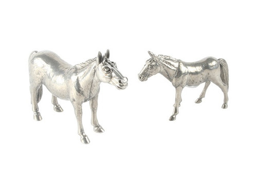 Pewter Mare + Colt Salt & Pepper Set