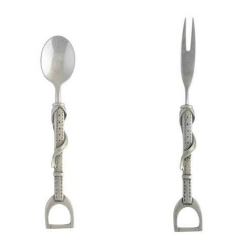 Pewter Stirrup Spoon and Fork