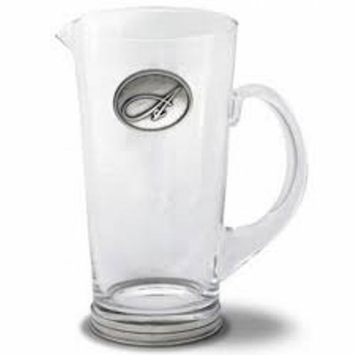 Monogram Glass Pitcher