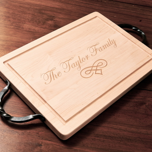 Customizable Rectangle Maple Wood Cutting Board