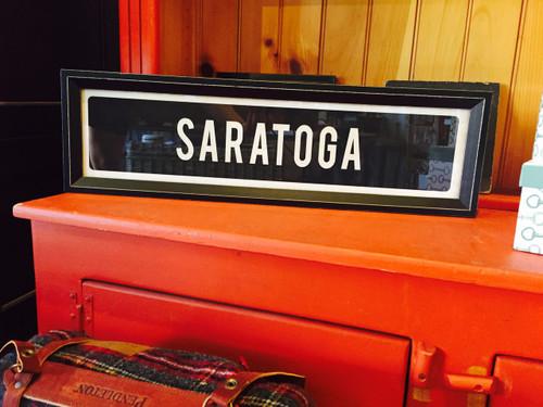 Saratoga - Framed Sign