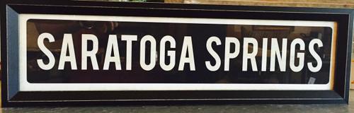 Saratoga Springs - Framed Sign
