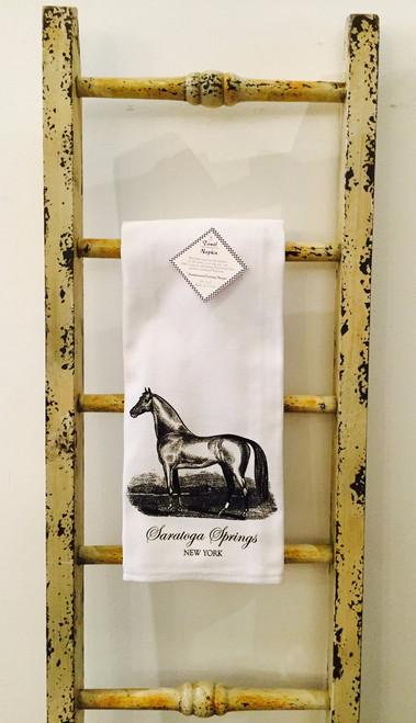 Saratoga Horse In Field Kitchen Towel