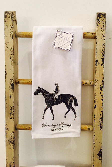 Saratoga Springs Kitchen Towel - Rider on Horse