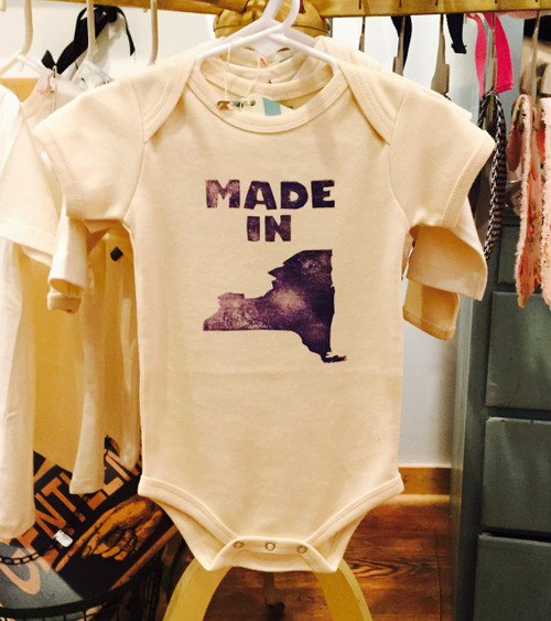 Made In NY State Onesie - Short Sleeve