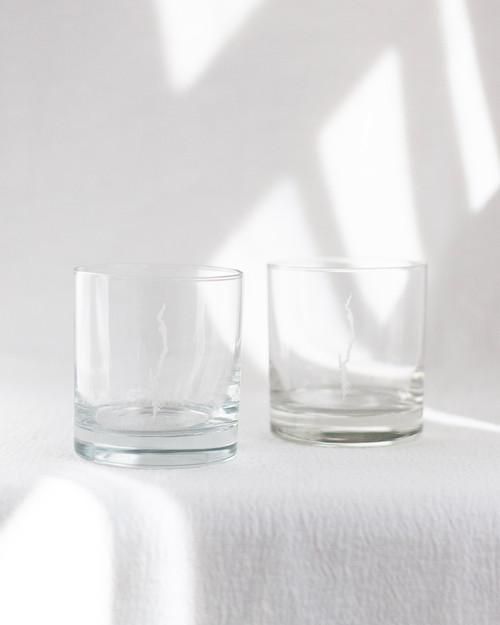Lake George Etched Rock Glass - Set of 2