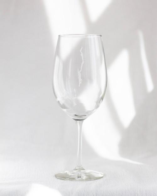 Lake George Etched - Wine Glasses - Set of 2