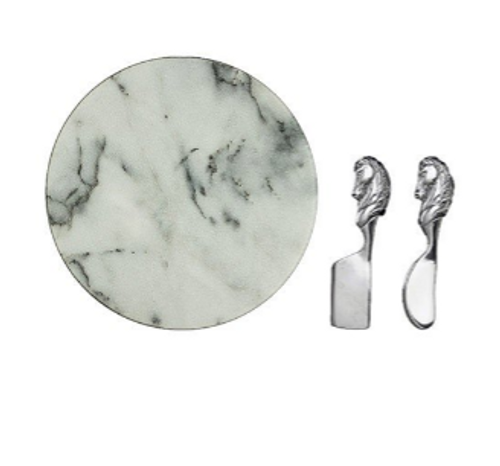 Horse Cheese Set Marble