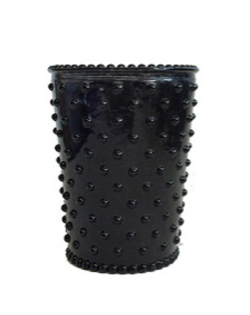 Hobnail Glass Candle - Forest Night