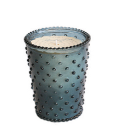 Hobnail Glass Candle - Ambergris