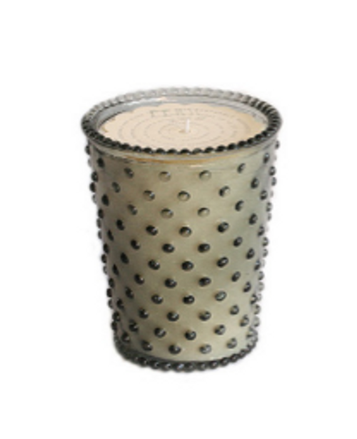Hobnail Glass Candle - Fern