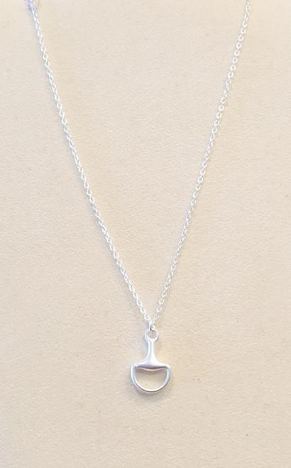 Silver Horse Bit Pendant Necklace