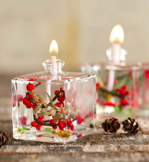 Lifetime Candle - Small Square Red Berry