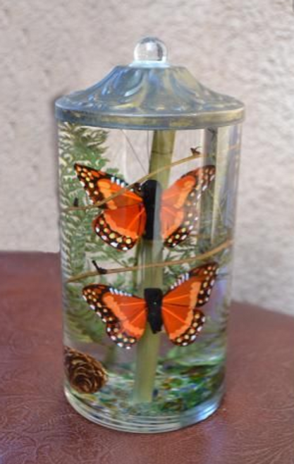 Lifetime Candle - Small Cylinder Butterfly
