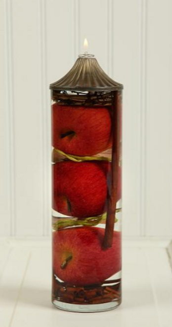 Lifetime Candle - Large Cylinder Apple