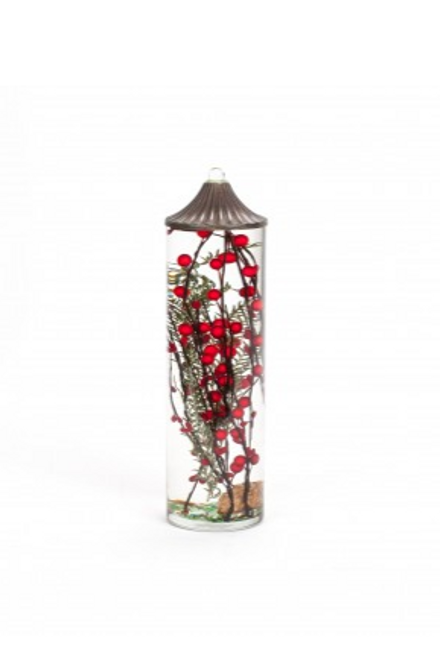 Lifetime Candle - Large Cylinder Red Berries