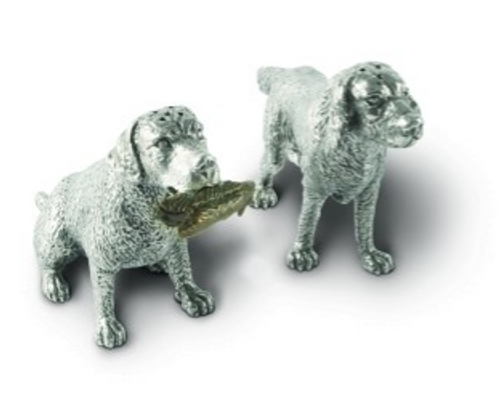 Pewter Hunting Dog - Salt and Pepper Set