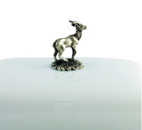 Stag Butter Dish - Detail