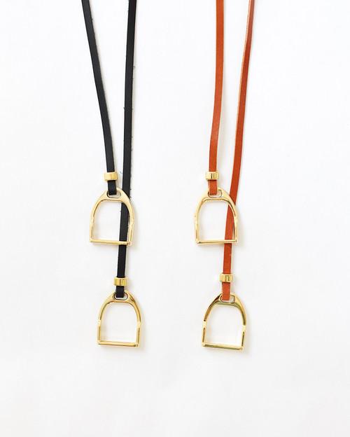Double Stirrup Lariat Necklace