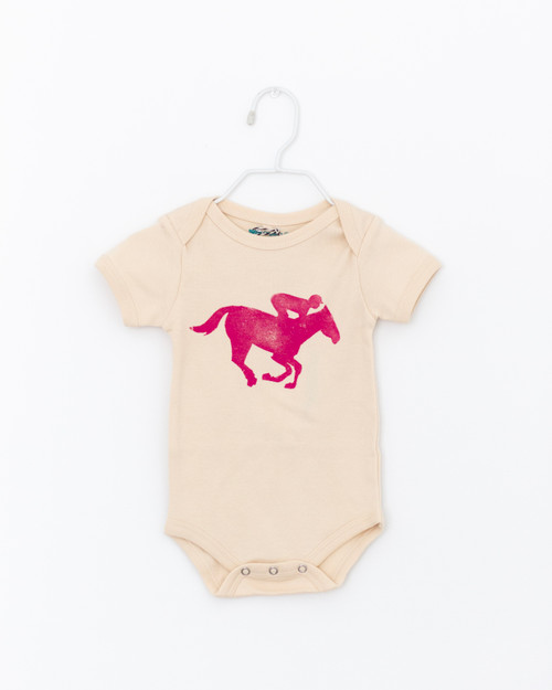 Horse & Jockey Short Sleeve Onesie