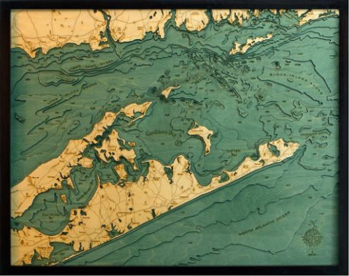 East Long Island Sound/ The Hamptons Wood Chart