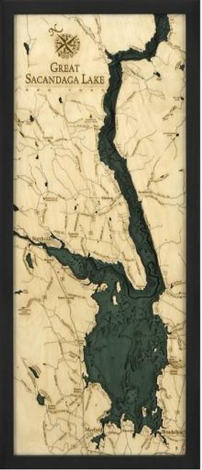 Great Sacandaga Lake Wood Chart