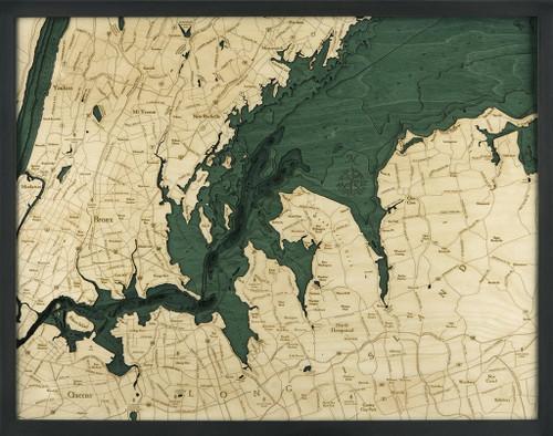 West Long Island Sound Wood Chart
