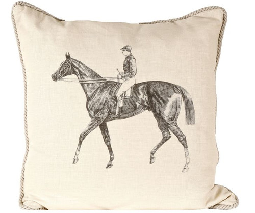 Horse and Jockey Pillow