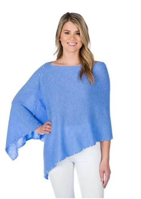Blue Horizon Pearl Cashmere Topper