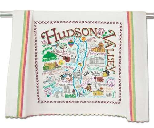Full towel design shows all of the great parts of the Hudson Valley!