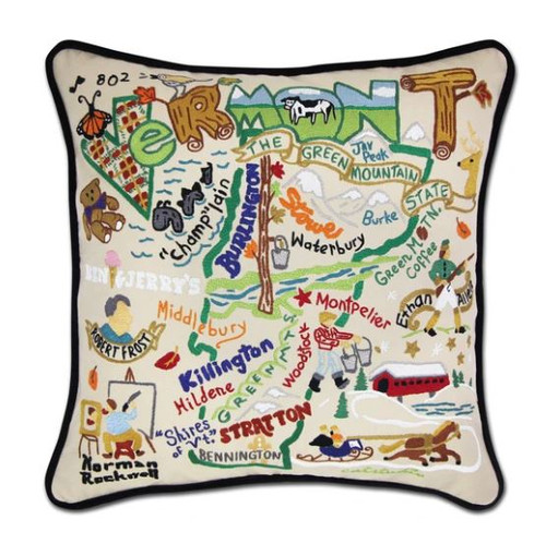 Vermont Hand-Embroidered Pillow