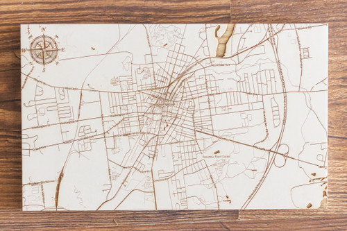 "Saratoga Springs map in ""Papier Blanc"""