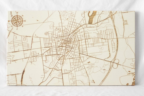 """Small Saratoga Springs map in """"Papier Blanc"""""""