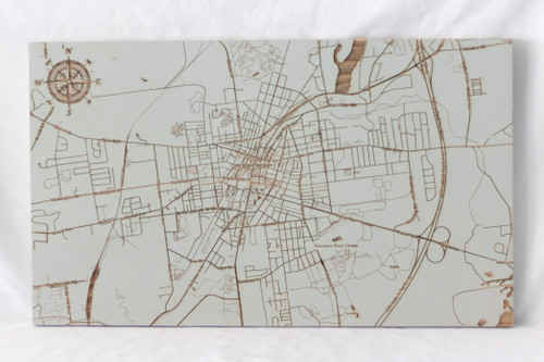 """Small Saratoga Springs map in """"Lunar Surface"""""""